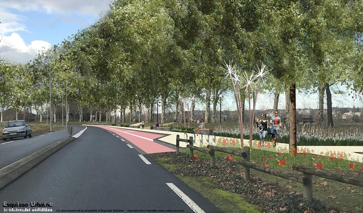 Plan d'aménagement des berges de Saône, conception Esquisse Urbaine, Villefranche sur Saône