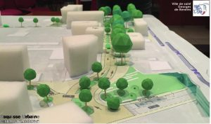 Conception paysagère pour la rénovation du quartier de la gare à Saint Georges de Reneins par Esquisse Urbaine