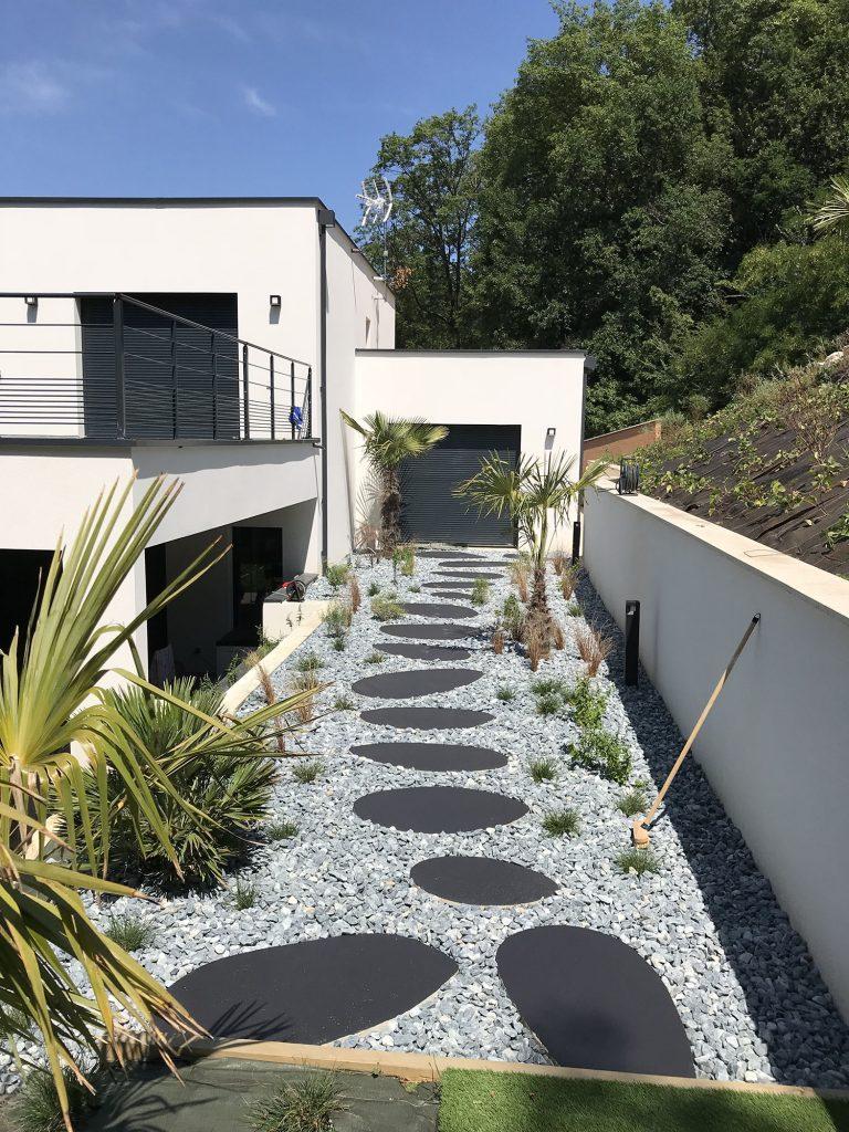Réalisation d'un jardin privé